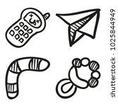 icons hand drawn toys. vector... | Shutterstock .eps vector #1025844949