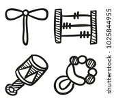 icons hand drawn toys. vector... | Shutterstock .eps vector #1025844955
