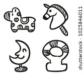 icons hand drawn toys. vector... | Shutterstock .eps vector #1025846011