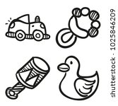 icons hand drawn toys. vector... | Shutterstock .eps vector #1025846209