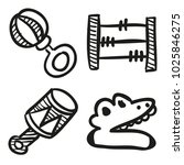 icons hand drawn toys. vector... | Shutterstock .eps vector #1025846275