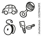 icons hand drawn toys. vector... | Shutterstock .eps vector #1025846395
