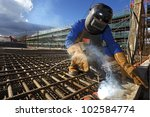welder - stock photo