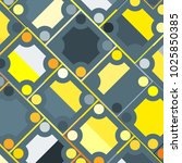 colorful mosaic background with ... | Shutterstock .eps vector #1025850385