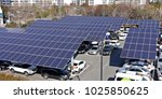 solar panel installed in... | Shutterstock . vector #1025850625