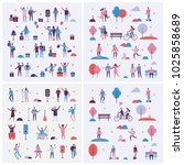 set of vector backgrounds in... | Shutterstock .eps vector #1025858689