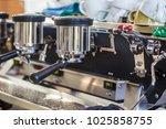 coffee shop preparation machine ...   Shutterstock . vector #1025858755