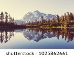 scenic picture lake with mount... | Shutterstock . vector #1025862661