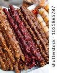 armenian sweetness yummy | Shutterstock . vector #1025865787