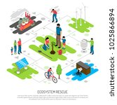 ecology isometric composition... | Shutterstock .eps vector #1025866894