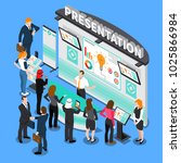 presentation with infographic... | Shutterstock .eps vector #1025866984