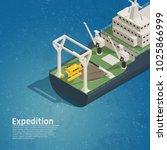 bathyscaphe diving equipment... | Shutterstock .eps vector #1025866999