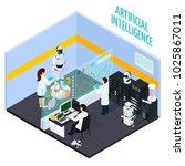 artificial intelligence concept ...   Shutterstock .eps vector #1025867011