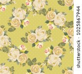 seamless floral pattern with... | Shutterstock .eps vector #1025867944