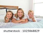 young blond caucasian woman... | Shutterstock . vector #1025868829