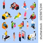 owerweight people icons set... | Shutterstock .eps vector #1025871244