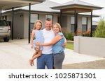 sweet loving family portrait... | Shutterstock . vector #1025871301