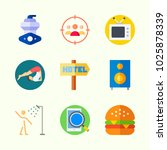 icons about lifestyle with yoga ... | Shutterstock .eps vector #1025878339