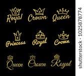 sketch queen crowns and hand... | Shutterstock . vector #1025878774