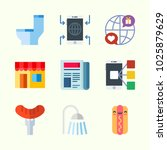 icons about lifestyle with... | Shutterstock .eps vector #1025879629