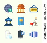 icons about lifestyle with... | Shutterstock .eps vector #1025879695