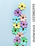 colorful paper flowers | Shutterstock . vector #1025882995