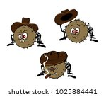 a set of three funny spiders ... | Shutterstock .eps vector #1025884441