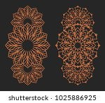 laser cutting set. wall panels. ... | Shutterstock .eps vector #1025886925