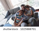 happy father spending time with ... | Shutterstock . vector #1025888701