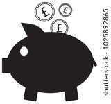 pound sterling currency icon or ... | Shutterstock .eps vector #1025892865