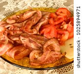 meat and bacon  | Shutterstock . vector #1025894971