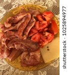 meat and bacon  | Shutterstock . vector #1025894977