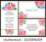 romantic invitation. wedding ...   Shutterstock .eps vector #1025896009