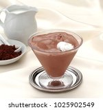 chocolate mousse in the cup  | Shutterstock . vector #1025902549