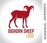 vector bighorn sheep logo label  | Shutterstock .eps vector #1025905075