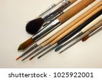 brush for painting  group of... | Shutterstock . vector #1025922001
