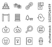 flat vector icon set   cake... | Shutterstock .eps vector #1025926459