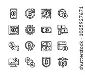digital currency icon set | Shutterstock .eps vector #1025927671