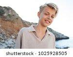 portrait of beautiful teenager... | Shutterstock . vector #1025928505