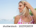 beauty portrait of mature... | Shutterstock . vector #1025928559