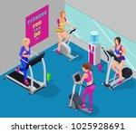 isometric illustration fitness...   Shutterstock . vector #1025928691