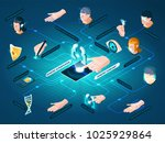 biometric authentication... | Shutterstock .eps vector #1025929864