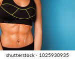 sweaty abdominals of young girl ... | Shutterstock . vector #1025930935