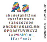 modern stylized colorful font... | Shutterstock . vector #1025937304