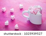 cup full of pink and white...   Shutterstock . vector #1025939527