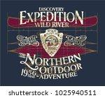 vintage canoe wild river... | Shutterstock .eps vector #1025940511