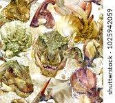 Dinosaurs Seamless Pattern....