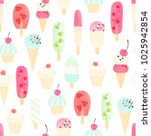 retro seamless pattern with ice ... | Shutterstock .eps vector #1025942854