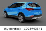 compact city crossover blue... | Shutterstock . vector #1025943841