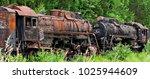 old rusty steam locomotive in... | Shutterstock . vector #1025944609